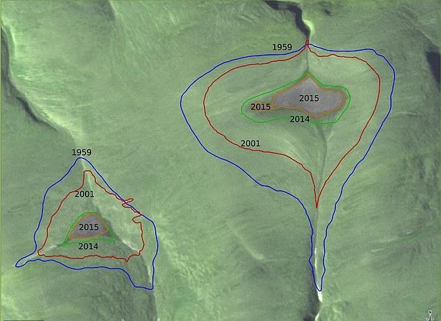 5년 만에 결국 사라진 북극 만년설, 위성사진 비교3.jpg