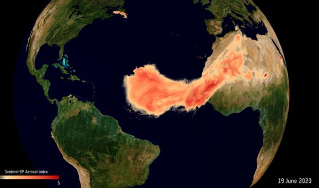아프리카에서 미국까지..사하라 사막 먼지의 8000km 대여정.jpg