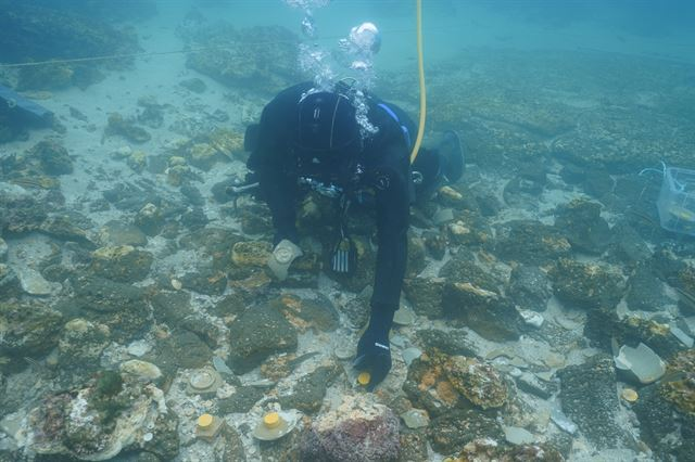제주 신창리 바다에서 인주 묻은 중국 남송 시대 인장 발견2.jpg